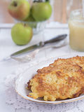 Potato fritter on a plate Royalty Free Stock Images