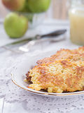Potato fritter on a plate Royalty Free Stock Photos
