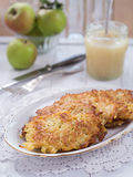 Potato fritter on a plate Stock Images