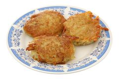 Potato fritters Stock Photos
