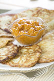 Potato fritters Stock Images
