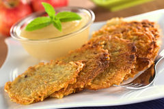 Potato Fritters Royalty Free Stock Photography