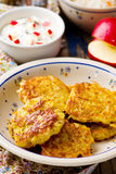 Potato fritters with cottage cheese Royalty Free Stock Image