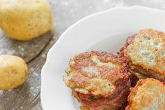 Potato fritters Stock Image