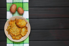 Potato Fritters or Pancakes Stock Image