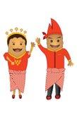 Potato fun mascot couple Stock Images