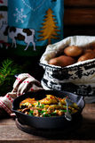 Potato galett  with draised beef Stock Images