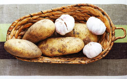 Potato and garlic Royalty Free Stock Photography
