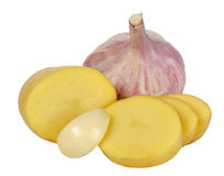 Potato and garlic Stock Image