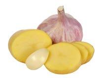 Potato and garlic Stock Image