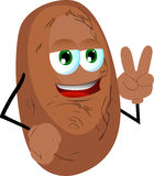 Potato gesturing the peace sign Royalty Free Stock Image