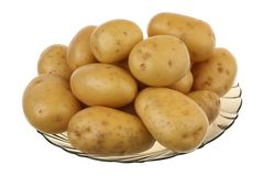 Potato in a glass plate Stock Images
