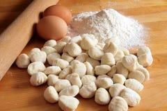 Potato Gnocchi Ingredients Stock Photo
