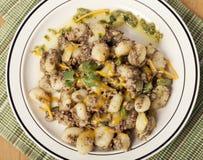 Potato gnocchi, Italian potato dumplings Royalty Free Stock Photography