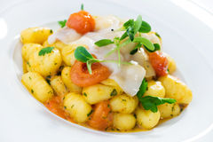 Potato Gnocchi with Lardo Royalty Free Stock Images