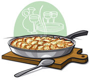 Potato gratin backed in pan Royalty Free Stock Photography