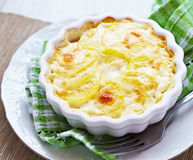 Potato gratin with cream Royalty Free Stock Photo