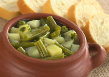 Potato and Green Bean Hotpot Stock Photo