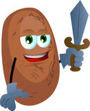 Potato guard with sword Royalty Free Stock Images