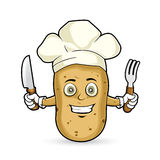 Potato - happy Royalty Free Stock Images