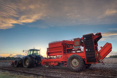 Potato harvester Stock Photography
