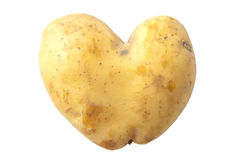 Potato heart Royalty Free Stock Images