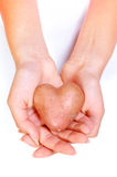 Potato heart Stock Image
