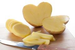 Potato heart Royalty Free Stock Photos