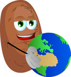 Potato holding Earth Stock Image