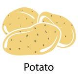 Potato icon Royalty Free Stock Photos