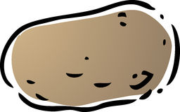 Potato illustration Royalty Free Stock Photography