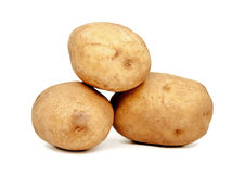 Potato isolated on white. Potato isolated on white background Royalty Free Stock Photography