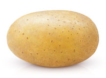 Potato isolated on white stock images