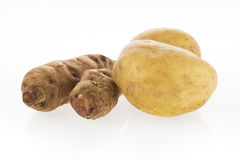 Potato and Jerusalem Artichokes Stock Images