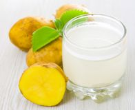 Potato juice royalty free stock images