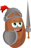Potato knight Stock Image