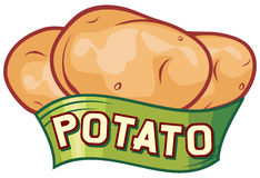 Potato label design Royalty Free Stock Image