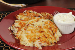 Potato latkes Royalty Free Stock Images