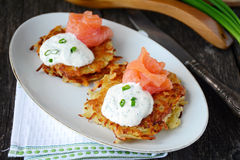 Potato latkes Royalty Free Stock Images
