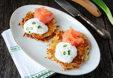 Potato latkes Royalty Free Stock Photo