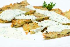 Potato Latkes for Hanukkah. Closeup