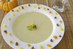 Potato Leek Soup Royalty Free Stock Images