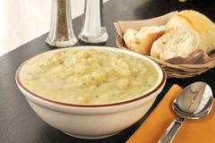 Potato leek soup Royalty Free Stock Image