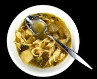 Potato and leek soup Royalty Free Stock Photography