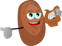 Potato with lyre Royalty Free Stock Photography
