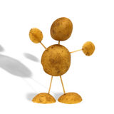 Potato man. A figure built of potatoes and toothpicks Stock Photo