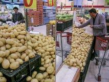 Potato in market Stock Photos