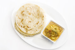Potato Masala Curry with Potato Paratha Royalty Free Stock Photos
