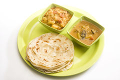 Potato Masala Curry with Potato Paratha Royalty Free Stock Photo