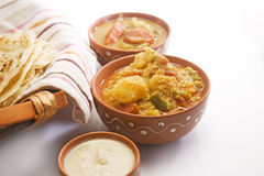Potato Masala Curry with Sambar Stock Photography